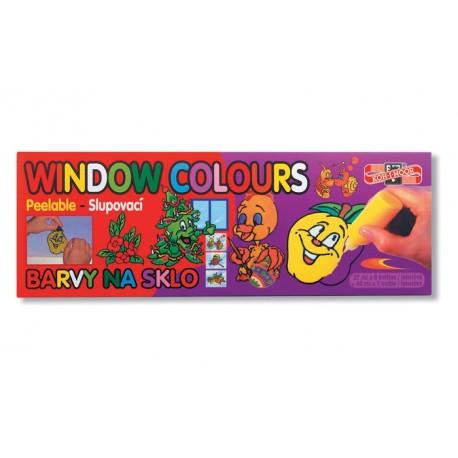 Set 10 culori pentru pictat pe sticla Koh-I-Noor