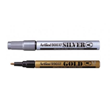 Marker cu vopsea corp metalic, ARTLINE argintiu / auriu