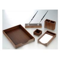 Set birou Osaka lemn nuc, 5 piese, Bestar