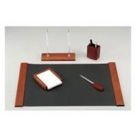 Set birou Berno lemn cires inchis, 5 piese, Bestar