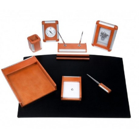 Set birou Vienna lemn cires deschis, 8 piese, Bestar