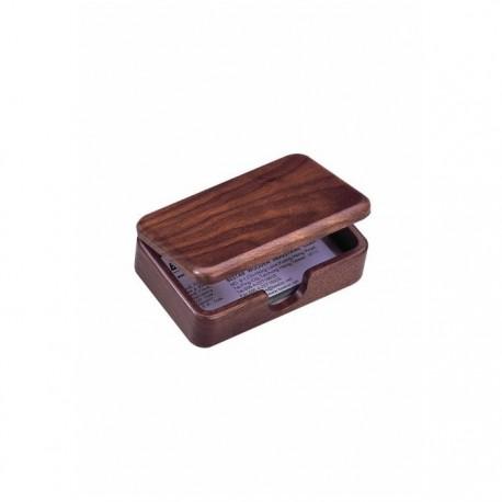 Suport carti de vizita birou BESTAR 111x73x39 mm lemn nuc