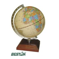 Glob pamantesc lemn Bestar cires inchis, diametru 12,6 cm