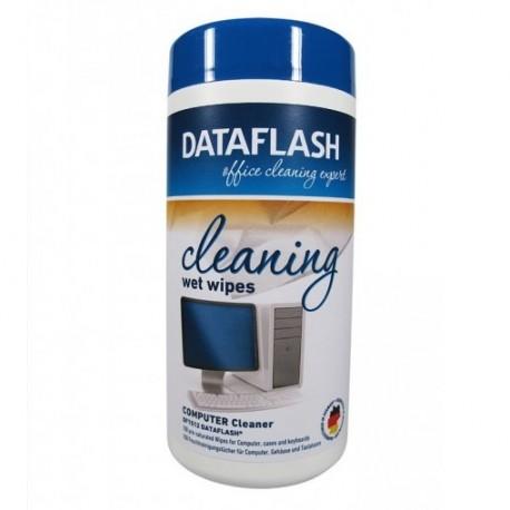 Servetele curatare suprafete plastic, 100 buc., Data Flash
