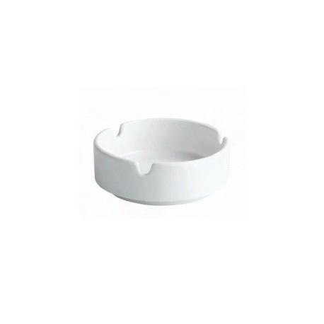 Scrumiera ceramica alba, 10 cm