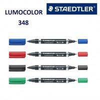 Marker permanent Lumocolor cu doua varfuri M-F Staedtler 348