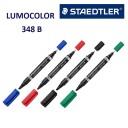 Marker permanent Lumocolor cu doua varfuri B-F Staedtler 348