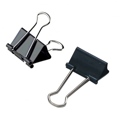 Clips metalic 41mm negru