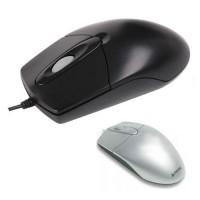 Mouse USB optic cu 3 butoane A4Tech OP-720, culori: negru, argintiu