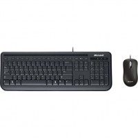 Tastatura multimedia + mouse optic USB, Microsoft Desktop 400, negru