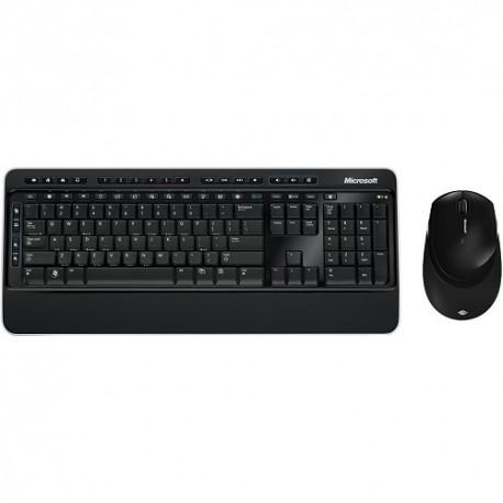 Tastatura multimedia + Mouse laser, wireless, USB, Microsoft Blue Track Desktop 3050, negru