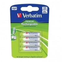 Acumulatori AAA (R3), 930 mAh, set 4 buc., Verbatim