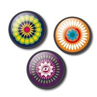 Set 3 insigne pentru troller Nikidom - Mandala