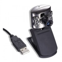 Webcam Gembird 44U, 30fps, 640x480 , microfon, nightvision, USB