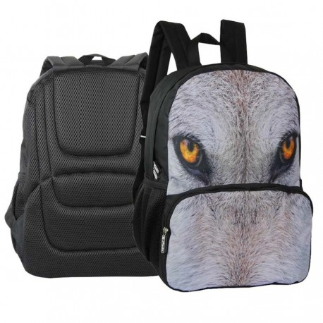 Rucsac cu 1 compartiment Herlitz Eyes of the wild Lup