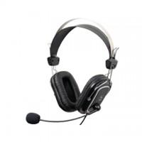 Casti cu microfon A4Tech HS-50, piele, control volum pe fir