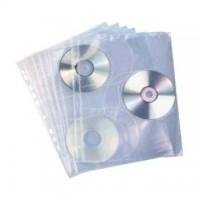 File plastic A4 pentru 3 CD/DVD, 100 microni, 10/set, Elba