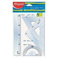 Set geometrie cu rigla 20 cm Maped