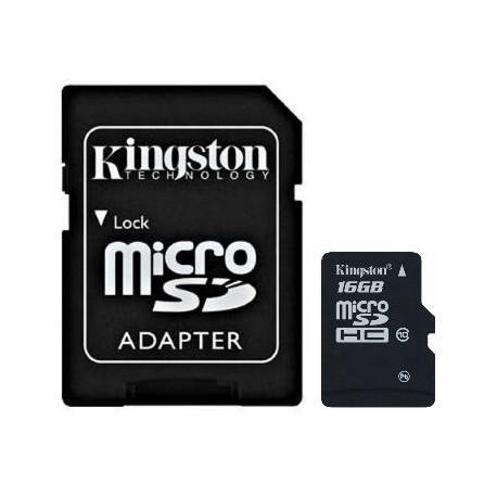 Card Micro Secure Digital HC 16 GB, clasa 10, Kingston