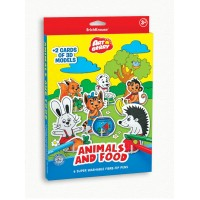 Puzzle 3D pentru colorat Art Berry Animals & Food, ErichKrause