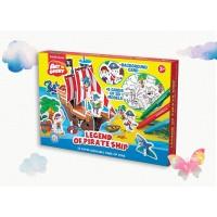 Puzzle 3D pentru colorat Art Berry Corabia Piratilor, ErichKrause
