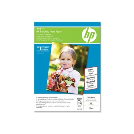 Hartie HP Everyday Semi-glossy Photo Paper A4, 175g/mp