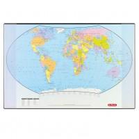 Mapa birou 45 x 70 cm harta lumii, Herlitz