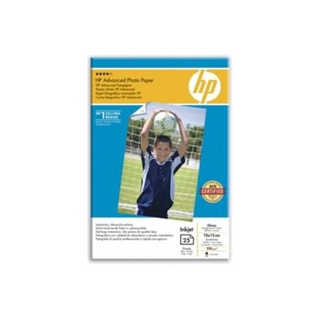 Hartie HP Advanced Glossy Photo Paper, 10x15cm borderless, 250g/mp, 25 coli