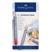 Creioane colorate acuarela Goldfaber 12 culori,  Faber-Castell