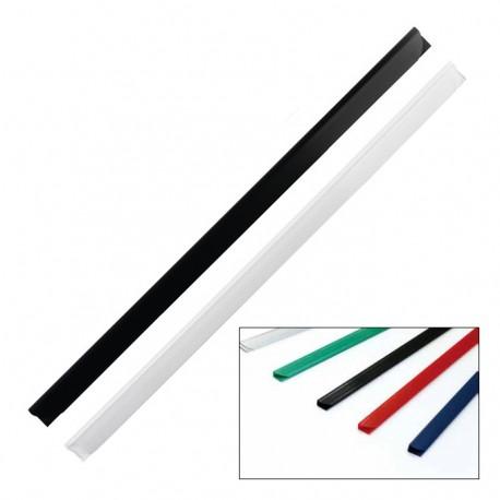 Baghete plastic de legat documente, 6 mm, 25 buc./set
