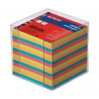 Cub hartie color cu suport plastic, culori intense, Herlitz