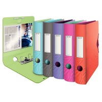 Biblioraft plastifiat 8cm Leitz Active Urban Chic 180°
