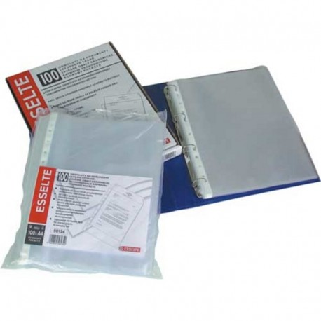 File plastic A4, 35 microni, 100 buc./set, Noki