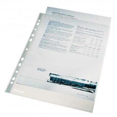 File protectie cristal A4, 55 microni, 100 buc./set, Esselte