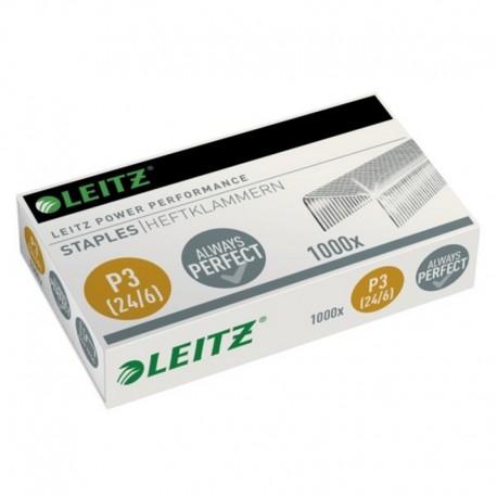 Capse 24/6 Albe, 1000 buc./cut., Leitz Power Performance