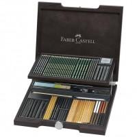 Cutie lemn Pitt Monochrome 95 buc., Faber-Castell