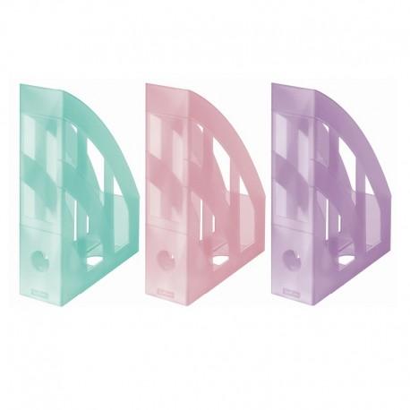 Suport vertical plastic pentru cataloage Herlitz Color Pastel