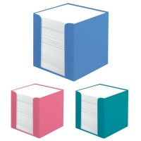 Cub hartie alba 700 file cu suport plastic, Herlitz Cool Color