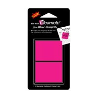 Stick index plastic semitransparent 38 x 51 mm, 2 x 50 file/ set, roz intens