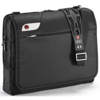 "Geanta laptop 16"", poliester, I-stay Launch Messenger - negru"