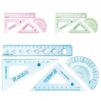 Set geometrie cu rigla 15 cm Aihao