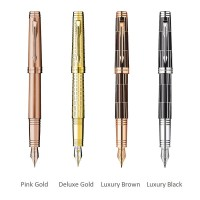 Stilou Parker Premier gravat auriu, Luxury Brown/black, penita aur