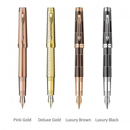 Stilou Parker Premier gravat auriu, Luxury Brown/black, penita aur