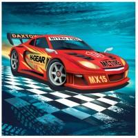Servetele de masa Herlitz 3 straturi, 33x33cm, set 20, Race Cars
