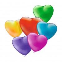 Baloane mini forma inima, diverse culori, set 20, Herlitz