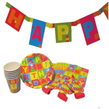 Set party Happy Birthday, pentru 6 persoane, Herlitz