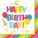 Servetele de masa Herlitz 3 straturi, 33x33cm, set 20, Happy Birthday