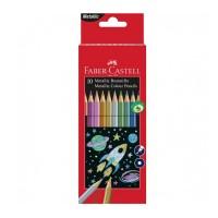 Creioane colorate Faber-Castell 10 culori metalizate