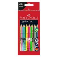 Creioane color Faber-Castell Grip Special set 12 culori