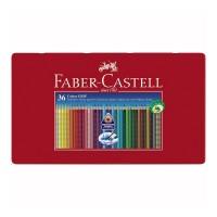 Creioane colorate Faber-Castell Grip set 36 culori cutie metal
